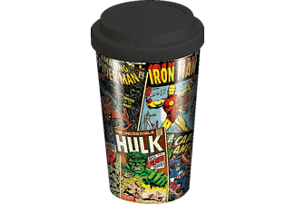 Marvel Travel Mug Retro Comic Covers Coffee-To-Go-Becher