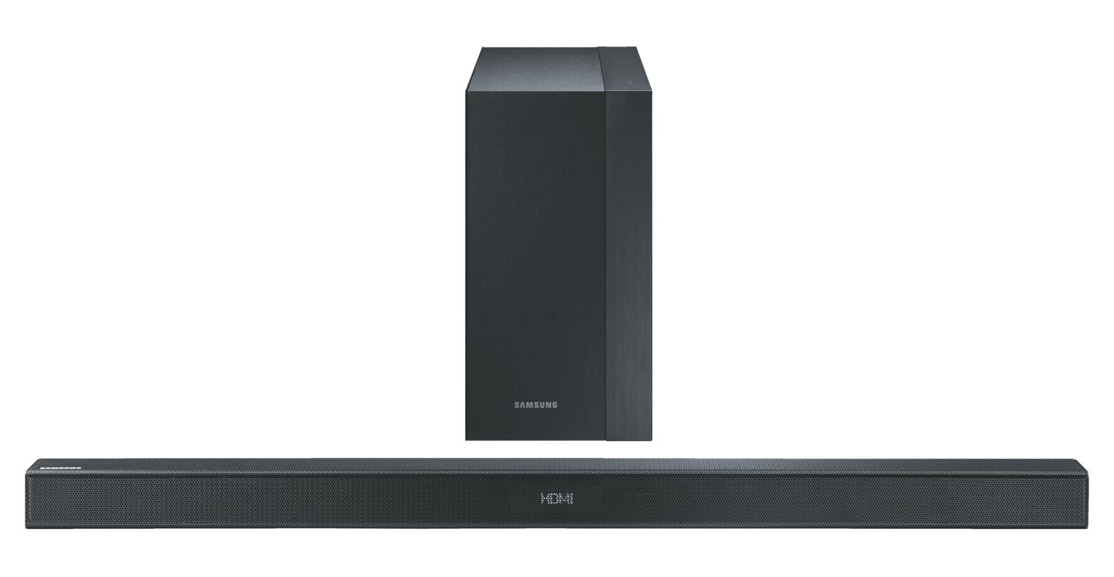 samsung hw k450 soundbar 300 watt bluetooth schwarz ebay. Black Bedroom Furniture Sets. Home Design Ideas