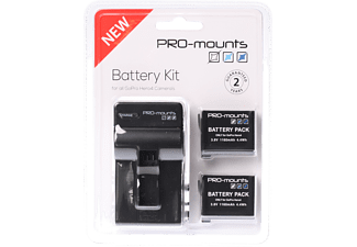 PRO-MOUNTS Batteri-kit till GoPro Hero4