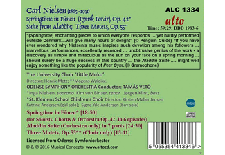 "The University Choir ""Little Muko"", The Odense Symphony Orchestra - Springtime In Fünen/Suite From Aladdin/3 Motets - (CD)"