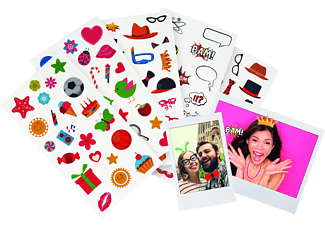 FUJIFILM 27818 Instax Fun Sticker Set, passend für Instax Mini Film