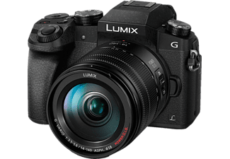 PANASONIC Lumix DMC-G7 Black + Φακός 14-140mm - (DMC-G7ΗEG-K)