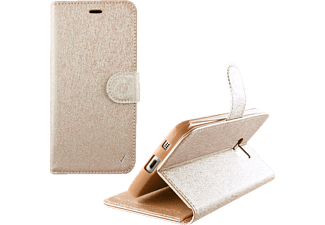 VOLTE-TEL Θήκη Samsung Galaxy J1 2016 J120 Leather GOLD-TPU Book Stand  (5205308162558)