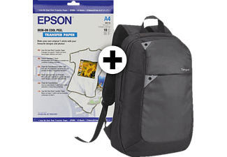 EPSON Iron-On Transfer Paper - (S041154) & 2 T-shirt & Backpack TBB565