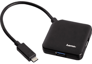 HAMA USB 3.1 Type-C Hub 1:4, bus powered, black - (135750)