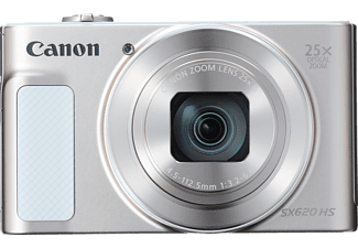 CANON Powershot SX620 HS Digitalkamera, 21.1 Megapixel, 25x opt. Zoom, Full HD, Back Illuminated CMOS Sensor, Near Field Communication, 25-625 mm Brennweite, Autofokus, Weiss