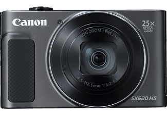 CANON Powershot SX620 HS Digitalkamera, 21.1 Megapixel, 25x opt. Zoom, Full HD, Back Illuminated CMOS Sensor, Near Field Communication, 25-625 mm Brennweite, Autofokus, Schwarz