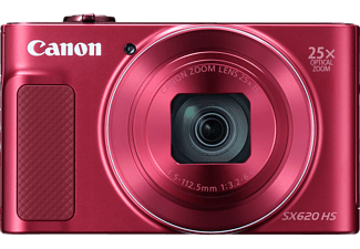 CANON Powershot SX620 HS Digitalkamera, 21.1 Megapixel, 25x opt. Zoom, Full HD, Back Illuminated CMOS Sensor, Near Field Communication, 25-625 mm Brennweite, Autofokus, Rot