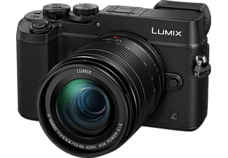 PANASONIC Lumix DMC-GX8M Systemkamera, 20.3 Megapixel, 2x, 2.7x, 4x, 5.4x opt. Zoom, 4K, Live-MOS Sensor, Near Field Communication, WLAN, 12-60 mm Objektiv, Autofokus, Touchscreen, Schwarz