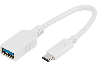 VIVANCO USB C Adapter till USB 3.0 10 cm - Vit