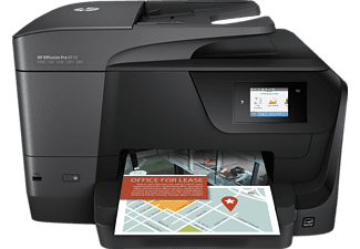 HP OfficeJet Pro 8715, 4-in-1 Multifunktionsdrucker, Schwarz