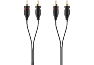 BELKIN Cable Audio 2XRCA/2XRCA M/M 2 m Black Gold - (F3Y098bt2M)