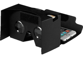 VIVANCO 30449 Cardboard Viewer, Virtual Reality Brille, Schwarz