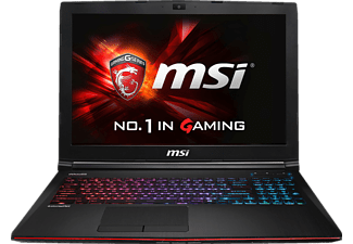 MSI GE62-6QC8H11, Gaming Notebook mit 15.6 Zoll Display, Core™ i7 Prozessor, 8 GB RAM, 128 GB SSD, 1 TB HDD, GeForce GTX 960M, Schwarz/Rot