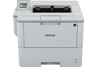 Brother Zwart-wit A4 laserprinter. 46ppm. 1200dpi. 256MB. 4.5 cm LCD touchscre (HL-L6300DW)