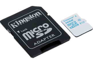 KINGSTON microSDHC UHS-I U3 Action Card + SD Adapter - (SDCAC/16GB)