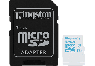 KINGSTON microSDHC UHS-I U3 Action Card + SD Adapter - (SDCAC/32GB)