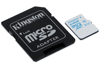 KINGSTON microSDHC UHS-I U3 Action Card + SD Adapter - (SDCAC/64GB)