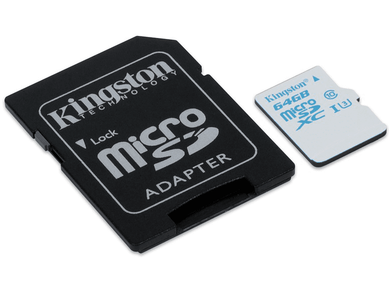 KINGSTON microSDHC UHS-I U3 Action Card + SD Adapter - (SDCAC/64GB) laptop  tablet  computing  tablet   ipad κάρτες μνήμης web offers computing   ta