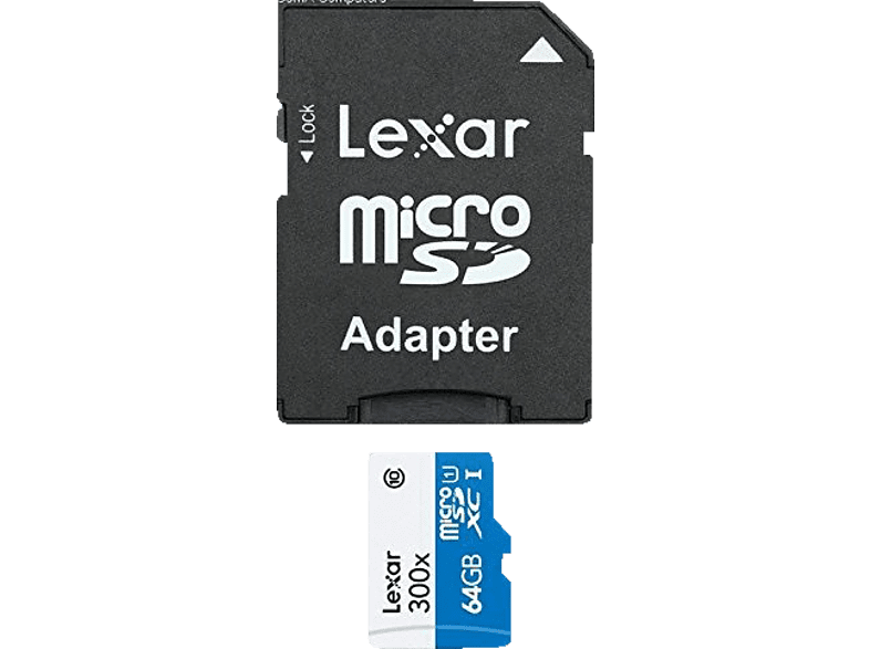 LEXAR microSDHC High performance 300x 64 GB laptop  tablet  computing  tablet   ipad κάρτες μνήμης hobby   φωτογραφία φωτογρ