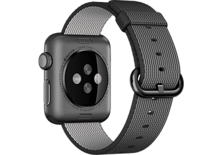 APPLE 38 mm Vävd nylon - Svart