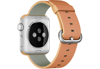 APPLE 38 mm Vävd Nylon - Guld/Röd