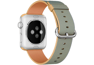 APPLE 42 mm Vävd Nylon - Guld/Blå