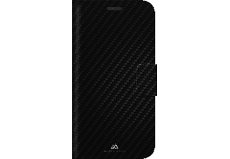 BLACK ROCK Flex-Carbon, Bookcover, Samsung, Galaxy S7, Polyurethan (PU), Schwarz