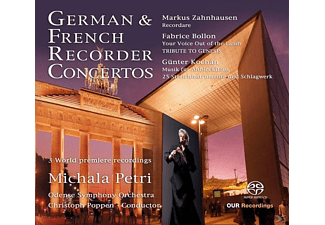 Michala Petri, Christoph Poppen, Odense Syph.Orch. - German & French Recorder Concertos - (SACD Hybrid)