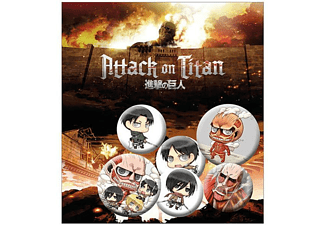 Attack on Titan Buttonset Chibi Mix