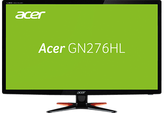 ACER GN276HLB 27 Zoll Full-HD  (1x VGA, 1x Dual Link DVI (w/HDCP), 1x HDMI Line out Kanäle, 1 ms Reaktionszeit)