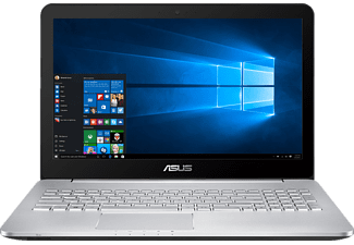 ASUS VivoBook Pro N552VW-FY083T, Notebook mit 15.6 Zoll Display, Core™ i7 Prozessor, 8 GB RAM, 1 TB HDD, 256 GB SSD, GeForce GTX 960M, Silber