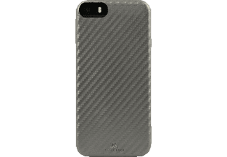 BLACK ROCK Flex-Carbon, Apple, Backcover, iPhone 5, iPhone 5s, iPhone SE, Kunststoff/Mikrofaser/Polycarbonat (PC), Silber