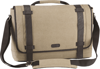 "TARGUS City Fusion 15.6"" Canvas Laptop Messenger Bag Beige - (TBM06401EU)"