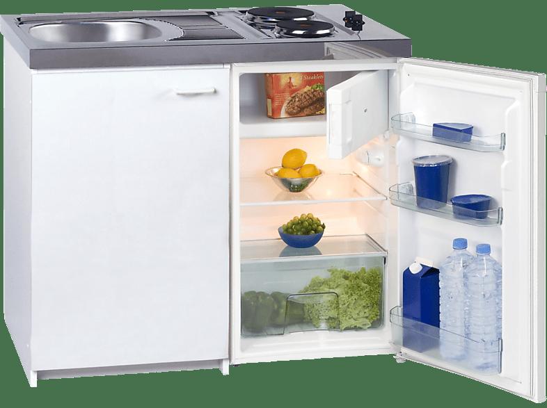 EXQUISIT KK1000Z Küchenzeilen & Küchenmodule - MediaMarkt | {Miniküche mit geschirrspüler 91}