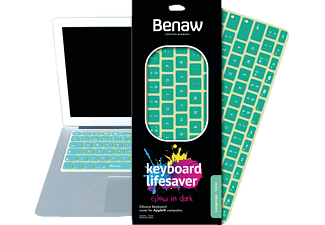 BENAW Glow in Dark - Tastatur Skin für 13 Zoll MacBook/Pro/Air/Wireless-Tastaturen (deutsch), Tastatur Skin, Grün