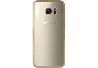 TUCANO Elektro Flex, Samsung, Backcover, Galaxy S7 edge, Silikon, Gold