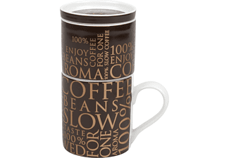KÖNITZ 11 5 618 2027 100 % on dark brown Tasse mit Kaffeefilter