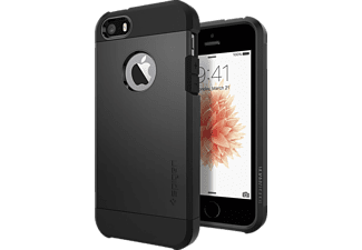 SPIGEN 041CS20189, Backcover, iPhone SE/5/5s, Schwarz