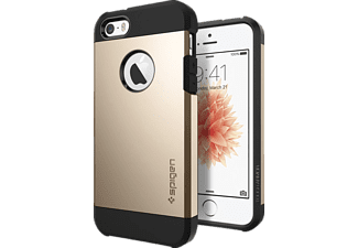 SPIGEN 041CS20252 Backcover Apple iPhone SE/5/5s Thermoplastisches Polyurethan/Polycarbonat Gold