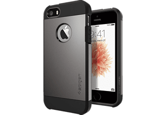 SPIGEN 041CS20188, Backcover, iPhone SE/5/5s, Grau