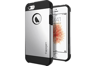 SPIGEN 041CS20251 Backcover Apple iPhone SE/5/5s Thermoplastisches Polyurethan/Polycarbonat Silber