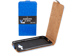 V-DESIGN DV 173, Flip Cover, Galaxy J3 (2016), Blau