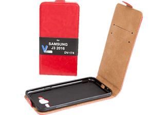 V-DESIGN DV 174, Flip Cover, Galaxy J3 (2016), Rot