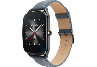 ASUS  ZenWatch 2 Smart Watch Leder, 115 mm, Grau/Blau