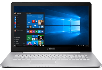 ASUS N752VX-GC131T, Notebook mit 17.3 Zoll Display, Core i7 Prozessor, 8 GB RAM, 1 TB HDD, 256 GB SSD, GeForce GTX 950M, Silber/Grau