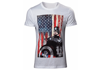 Captain America T-Shirt -L- American Flag