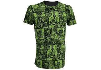 Marvel T-Shirt -M- Hulk Comic, grün