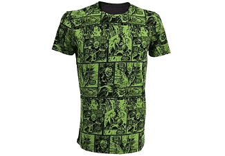 Marvel T-Shirt -L- Hulk Comic, grün