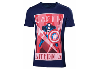 Marvel T-Shirt -L- Captain America, blau
